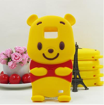 Hot sale shockproof cell phone case 3d cartoon Winnie pooh soft silicone protector shell cover skin for samsung galaxy S2 i9100(China (Mainland))