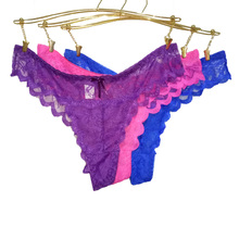 Fashion Hot Sexy Lace Women Underwear Girl Thongs G-string V-string Lady Panties Lingerie Underwear(China (Mainland))