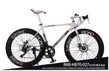 Buy 700C*49 cm bike alloy frame bicycle disc brake road bike EUROBIKE XC650 14 speed racing bike folding bike 160-185CM for $191.10 in AliExpress store