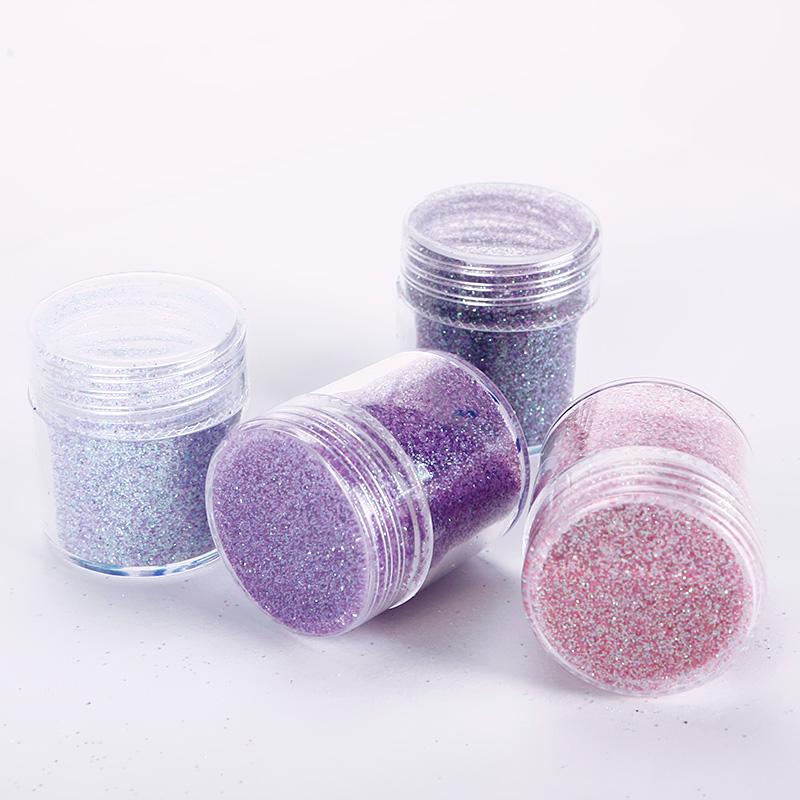 10ml Nail Art Glitter Powder Pink Purple Super Fine Sheets Tips Decoration Makeup 3D Nail Art Tips #95769(China (Mainland))