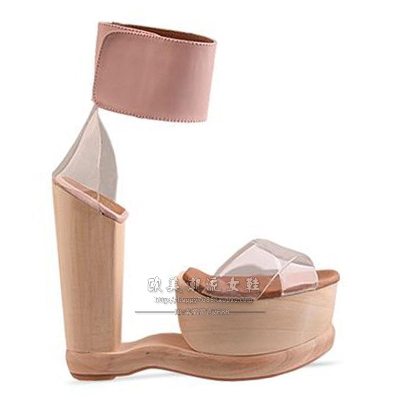 popular wooden platform shoes buy cheap wooden platform