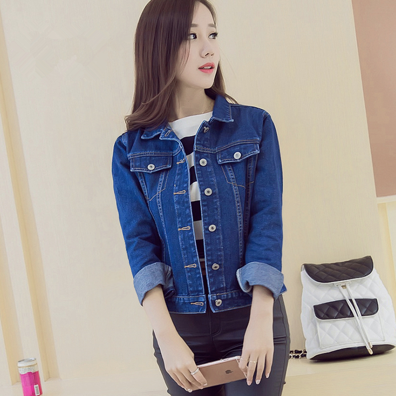 2016 High Quality Women's Casual Jeans Jackets and Coats Female Vintage Denim Jacket Women JN154