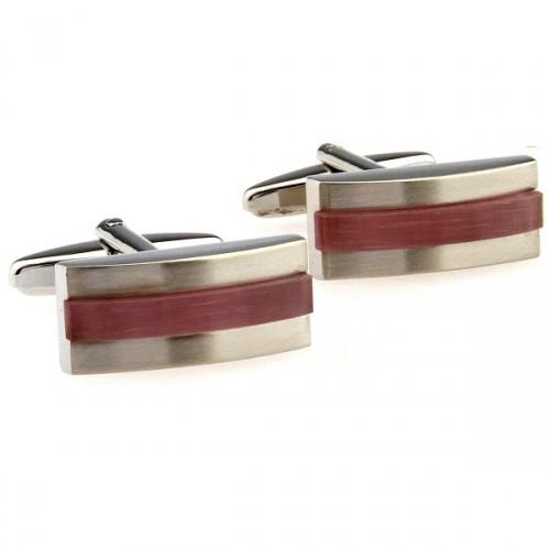cuff link boxes Novelty Round Red Onyx Cufflinks(China (Mainland))