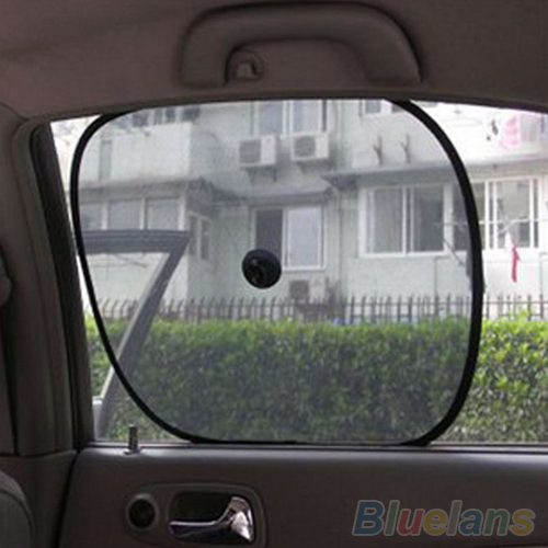 1 Pair Black Mesh Car Side Rear Window Sun Shade Cover Visor Shield Screen 1STD(China (Mainland))