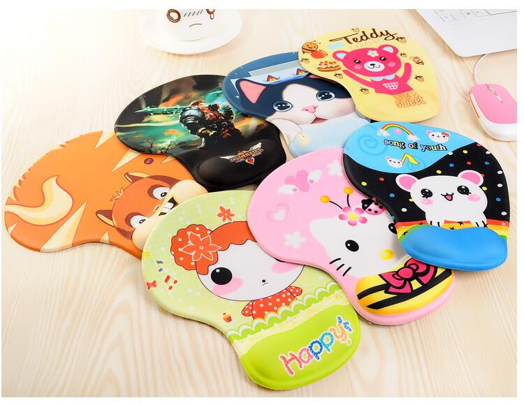 Mouse Pad Cartoon 3D Wrist Rest Support Mousepad Hello Kitty Sponge Doraemon Cat Silicona Wrist Support Rest Mouse-pad(China (Mainland))