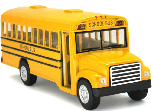 Scale Emulational Electric Alloy Diecast Models Car Toys, Classic School Bus, Brinquedos Miniature Pull Back Cars,Doors Openable(China (Mainland))