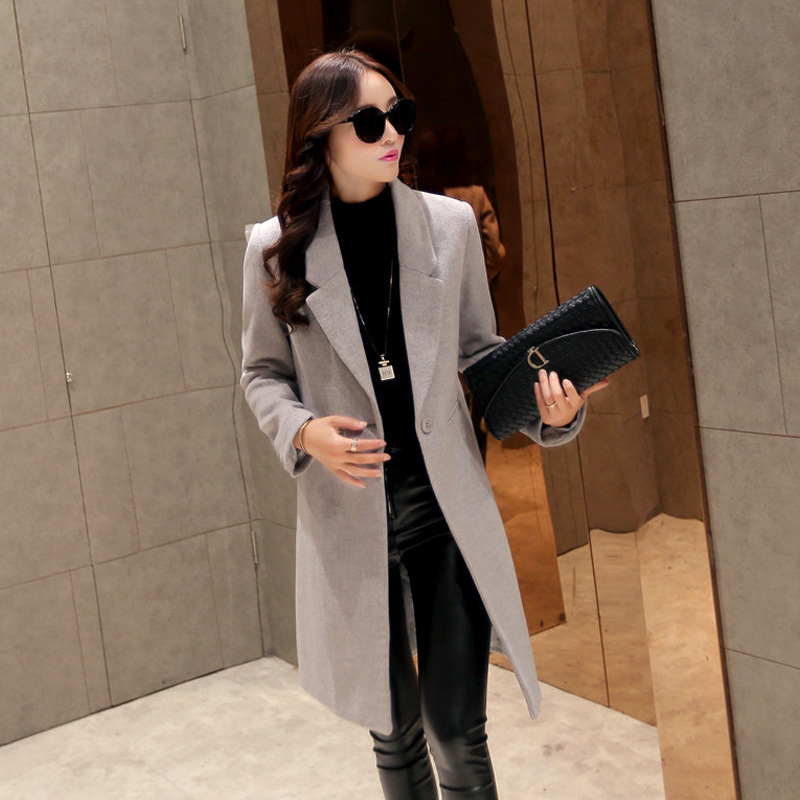2015 new Korean lovers carat Tang Yan with paragraph woolen coat and long sections Slim woolen coat lapelОдежда и ак�е��уары<br><br><br>Aliexpress