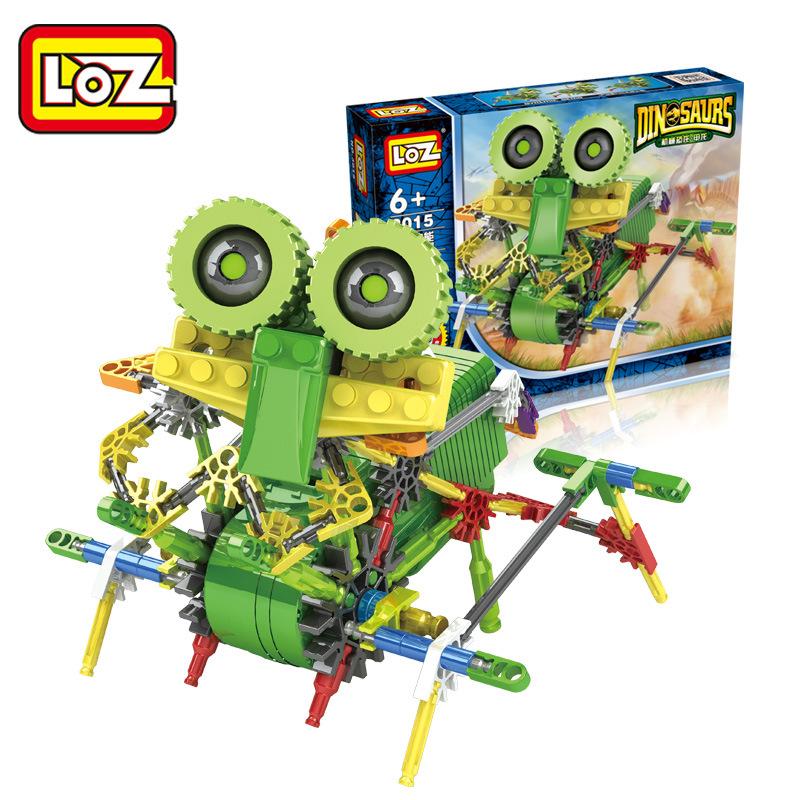 LOZ blocks Electric building blocks robot dinosaur series DIY Building Blocks Figure toys Educational toys free shipping