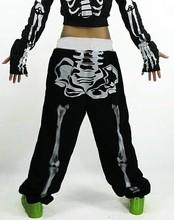New fashion Brand Skull loose Harem Hip Hop Dance Pants casual thin Sweatpants Costumes female neon jazz sports trousers