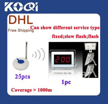 DHL FREEshipping ; Waiter calling system , LED display wireless table , Wireless nurse call system