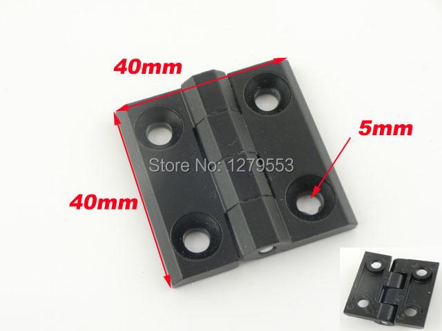 5mm Mount Hole Metal Closet Cabinet Door Butt Hinge Black(China (Mainland))