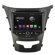 Quad Core Android 4.4.4 Headunit DVD For Ssangyong Korando 2014 with HD 1024X600 CAR Navigation Stereo GPS Mirror link