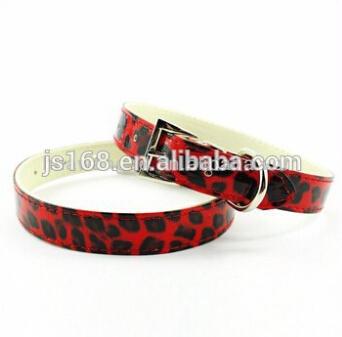 LuxurLeopard plain cat pet dog collar(China (Mainland))