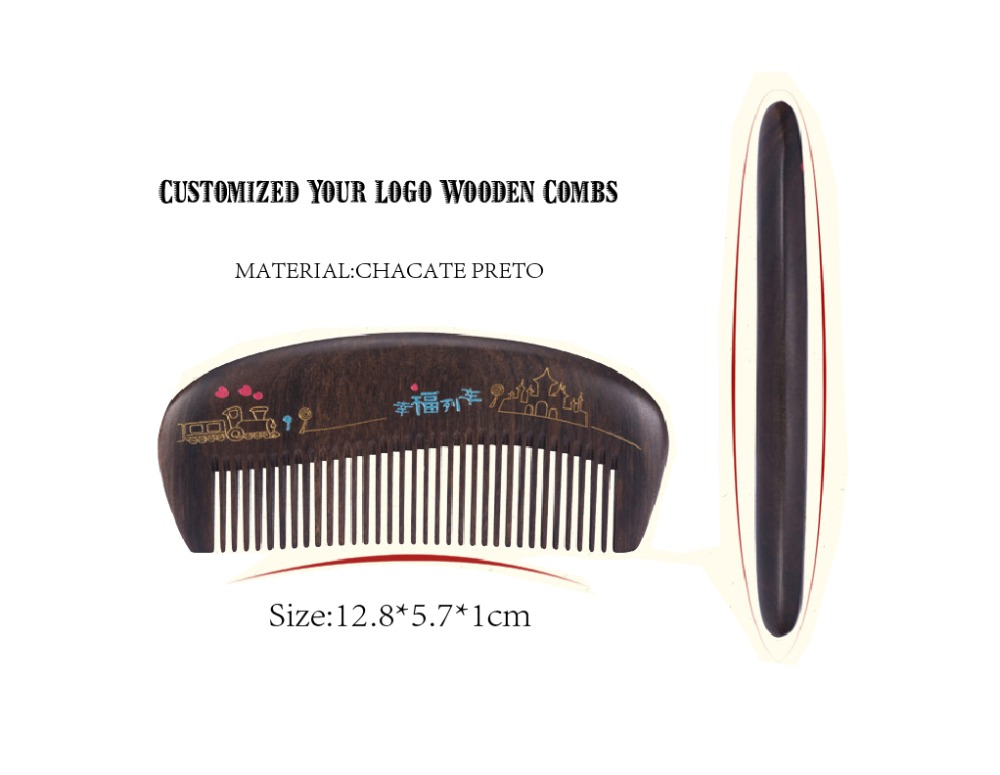 OEM Natural Chacate Preto Customized Wooden Beard Comb Promotional Man Comb It Can Be Engraved Your Logo<br><br>Aliexpress