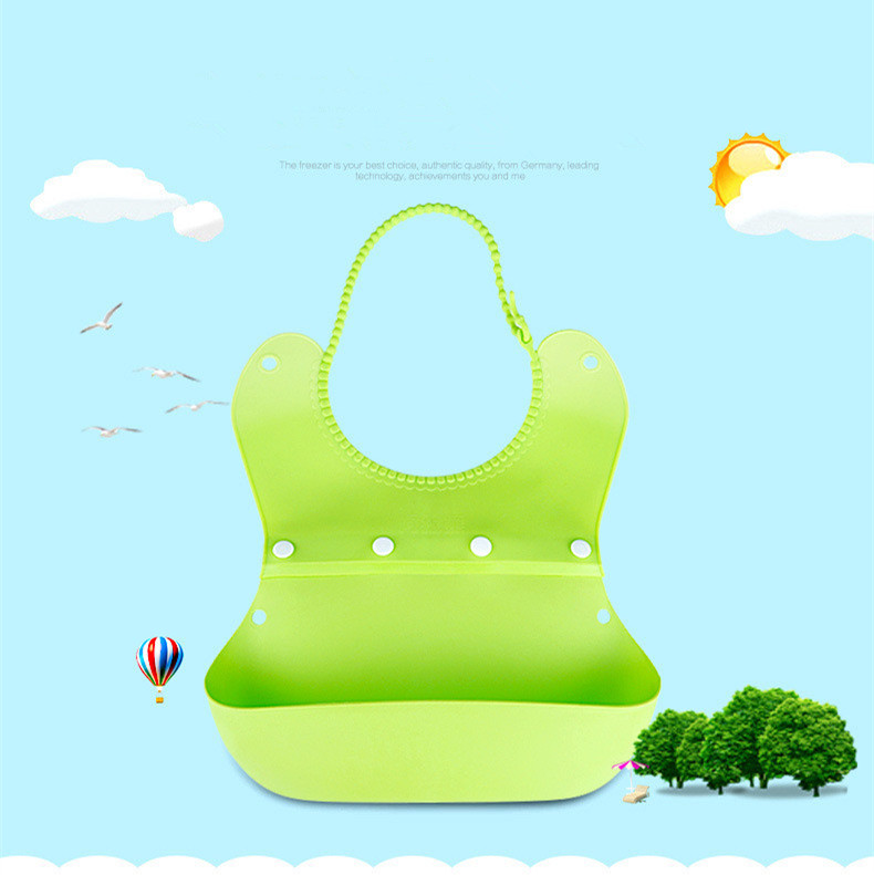new 0-3 Year High Quality Foldable Silicone Baby Bibs Waterproof Baberos Fashion Pattern Lunch Bibs Burp Clothes free shipping(China (Mainland))