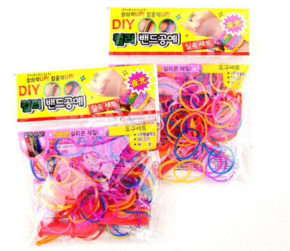 About 50 pcs Luminous Elastic Band Rope Hair Mixed Colors Hair Bands Sinews Refills glitter Elastic Bands Handcraft Bracelet(China (Mainland))