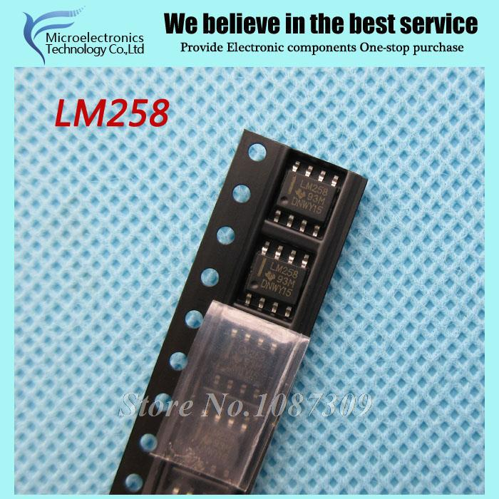 50pcs free shipping LM258 LM258DR SOP-8 Operational Amplifiers - Op Amps 3-32V Dual Low Bias -25 to 85deg C new original(China (Mainland))