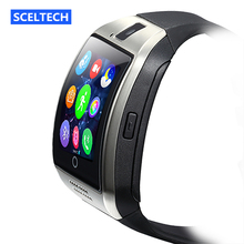 IN STOCK! Q18 Passometer Smart watch Apro Q18s Support Bluetooth SIM GSM camera Support Android/IOS cell phone PK GT08 GV18 U8(China (Mainland))