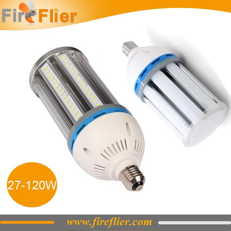 Free Shipping 27w 30w 36w 45w 55w 60w 80w 100w 120w corn bulb led outdoor e40 street light bulb ip64 wide voltage 85-265V 6000k(China (Mainland))