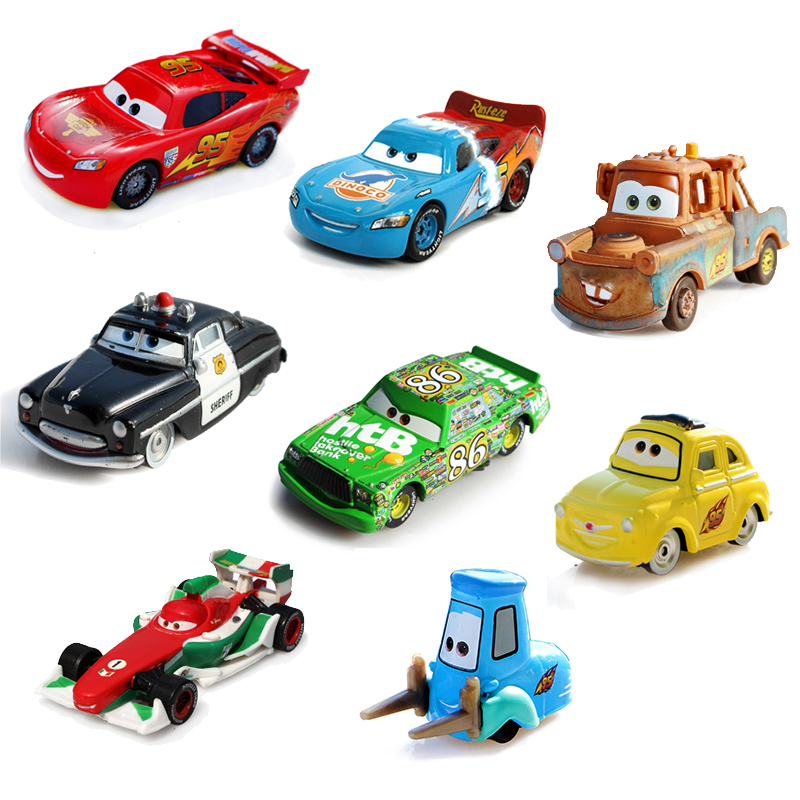 Disney Pixar Cars 16 Styles Lightning McQueen Mater 1:55 Diecast Metal Alloy Toys Birthday Christmas Gift For Kids Cars Toys(China (Mainland))