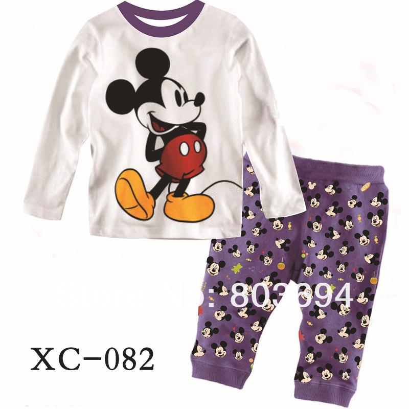 Wholesale  fashion minne dot design baby pajamas,children sets/kids sleepwear 1lot/6sets.free shipping XC-082<br><br>Aliexpress