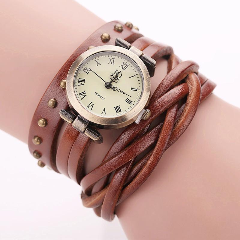 Гаджет  New Arrival 9 colors Vintage Retro Rivet Braided Watch Leather Strap Watch Women Dress Watches 1piece/lot BW-SB-681 None Ювелирные изделия и часы