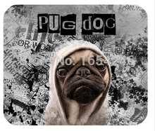 2015 Discount Retail Hot Sell New Size Gaming Necessary Mouse Mat Pug Dog Non-Skid Rubber Pad(China (Mainland))