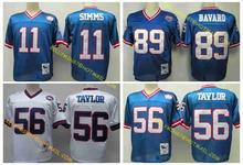 100% Stitiched,New York Giants,Phil Simms,Harry Carson,Lawrence Taylor,Carl Banks,Mark Bavaro,Victor Cruz,Throwback for men(China (Mainland))