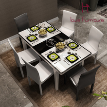 Contemporary and contracted induction cooker toughened glass table scale table table, eat desk and chair The latest hot style(China (Mainland))