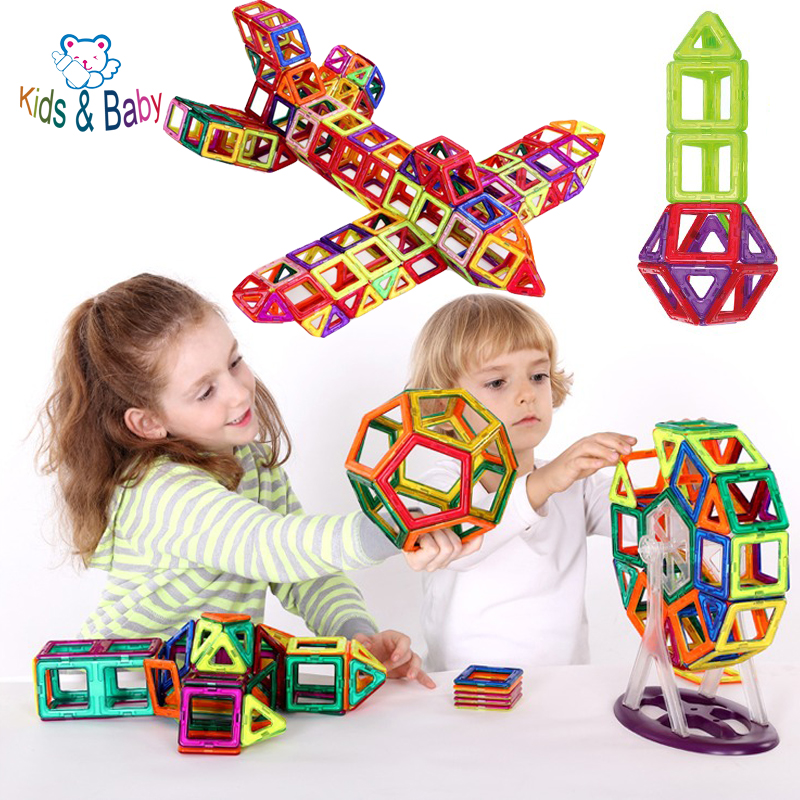 3D DIY Building Blocks Baby Toys Combination Magnetic Blocks Set Inspire Kit Learning Educational Creative Tots Toy(China (Mainland))