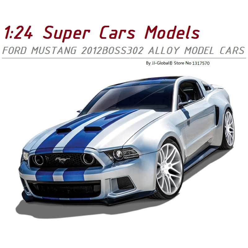 (3 colors avilable)Alloy ABS Plastic 1:24 Cars Model for Ford Mustang 2012Boss302 Exquisite packaging as Toy Gifts Collection(China (Mainland))