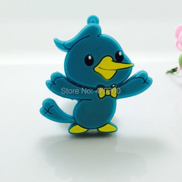 10pcs/lot hot sale Blue bird cartoon model usb 2.0 memory pen drive 4gb/8gb/16gb/32gb best gift--free shipping(China (Mainland))