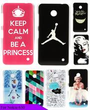 Cute Beauty Painting Skin Keep Calm Pink Custom High Quality Hard Plastic Luxury Logo Case Cover for Nokia Lumia 630