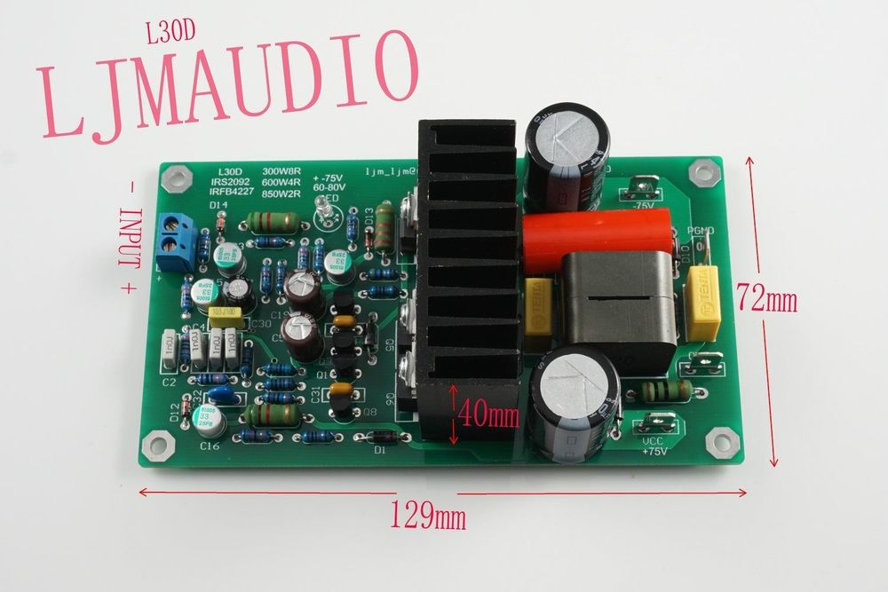 L30D/300-850W MONO Digital Amplifier IRS2092 IRFB4227 IRAUDAMP9<br><br>Aliexpress