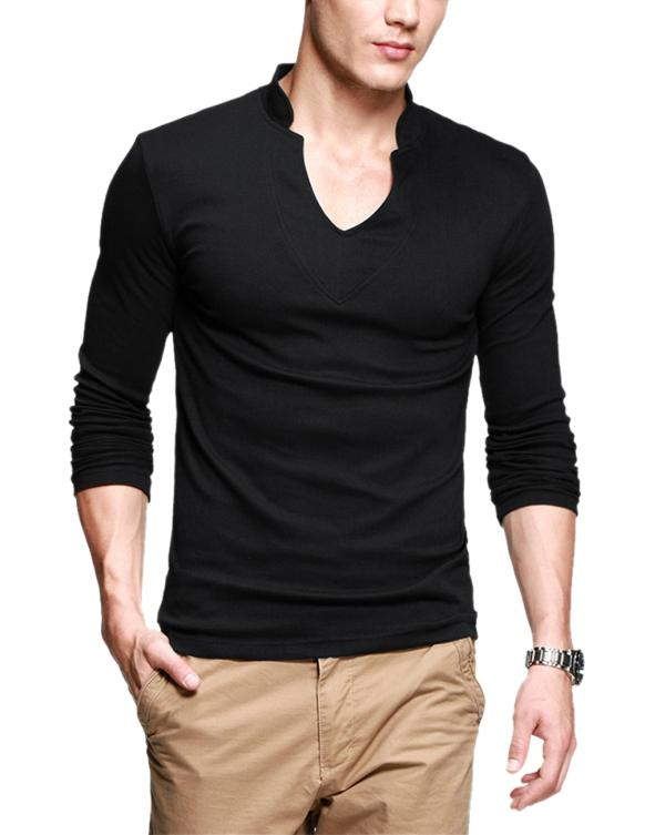 New men 2014 designer henley neck brand t shirts shirts New designer t shirts