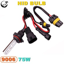 Buy 9006 75W 12V Car Styling HID Xenon Bulb Headlight Lamp Replacement Auto Motorcycle Light Source 3000K 4300K 6000K 8000K 12000K for $10.04 in AliExpress store