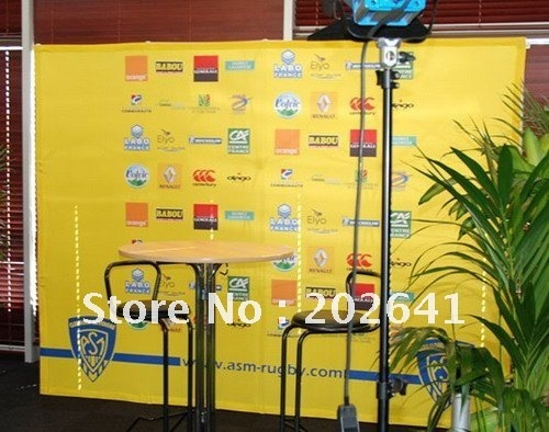 10x7.5ft Straight Pop Up Display with Fabric Banner