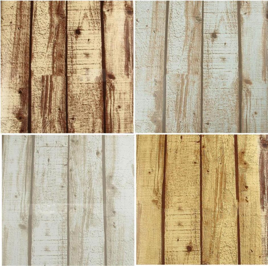 Buy natural realistic rustic grained effect wood panel wallpaper vinyl - Wood effect bathroom wallpaper ...