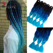 wholesale blue braiding hair High Temperature Fiber Box Synthetic Braiding Hair 100g/piece expression braiding hair extensions