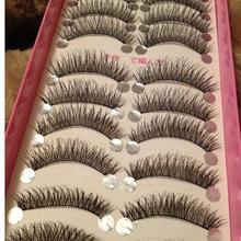 High Quality 10 Pairs/set False Eyelashes Long Thick Cross Makeup Beauty False Eyelashes Fake Eye Lashes Extension Tools(China (Mainland))