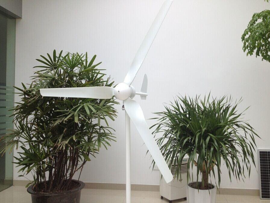 3kw wind solar hybrid system 2kw wind turbine system 1000w solar system 250w mono solar panel 4pcs 2kw inverter(China (Mainland))