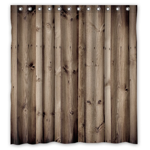 New Arrival Custom Polyester Bath Curtains Print Vintage Rustic Knotty Wood Shower Curtain