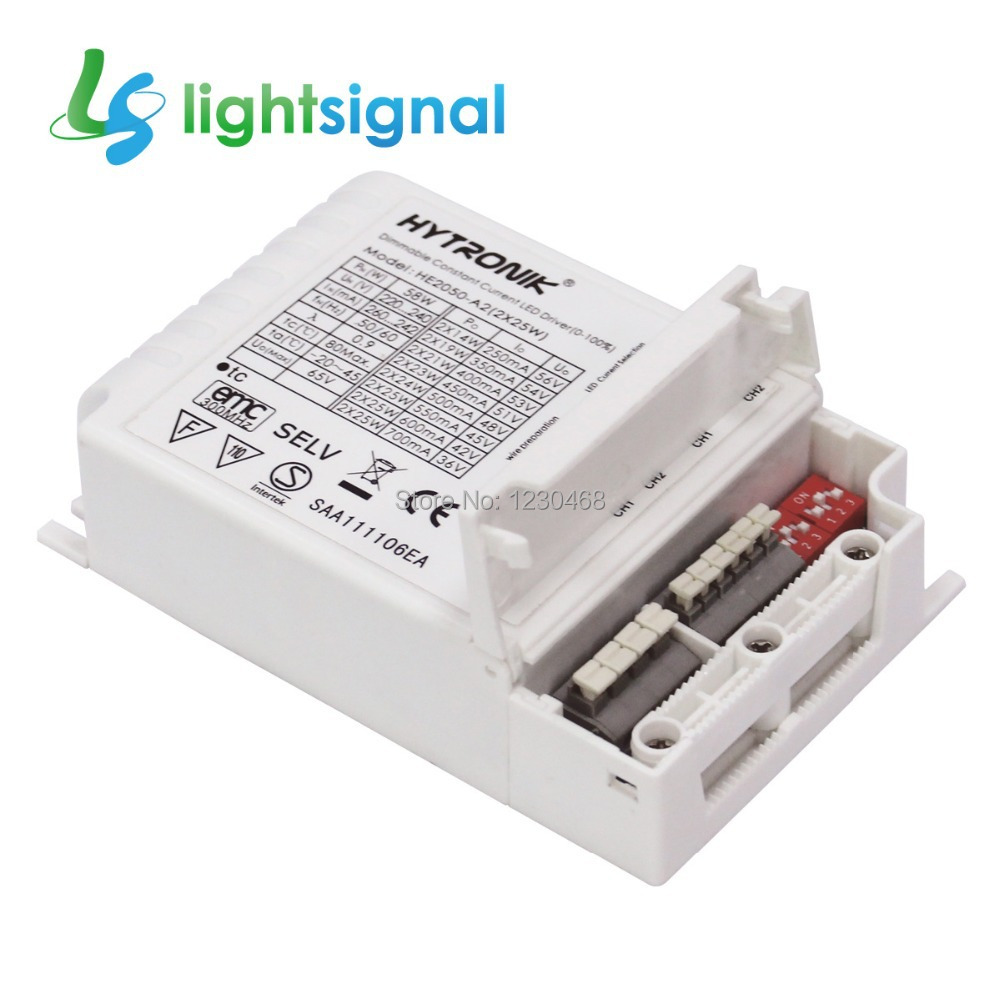 50w 2 25w Dual Output Dimmable Led Driver Led Power