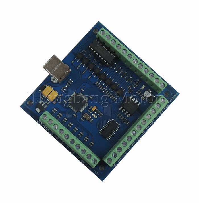Free shipping CNC MACH3 USB 4 Axis 100KHz USBCNC Smooth Stepper Motion Controller card breakout board for CNC Engraving 12-24V(China (Mainland))