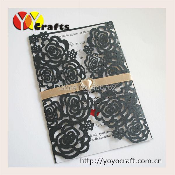 New Arrival: 2015 latest wedding card designs Rose Laser cut Wedding Invitation Card for Wedding Decorations(China (Mainland))