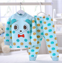 Cute Cartoon Color dots Pajamas Set for Girl Boy Baby Suit Spring Autumn Children Wear Kid Clothes Toddler Fashion Bebe Clothing(China (Mainland))