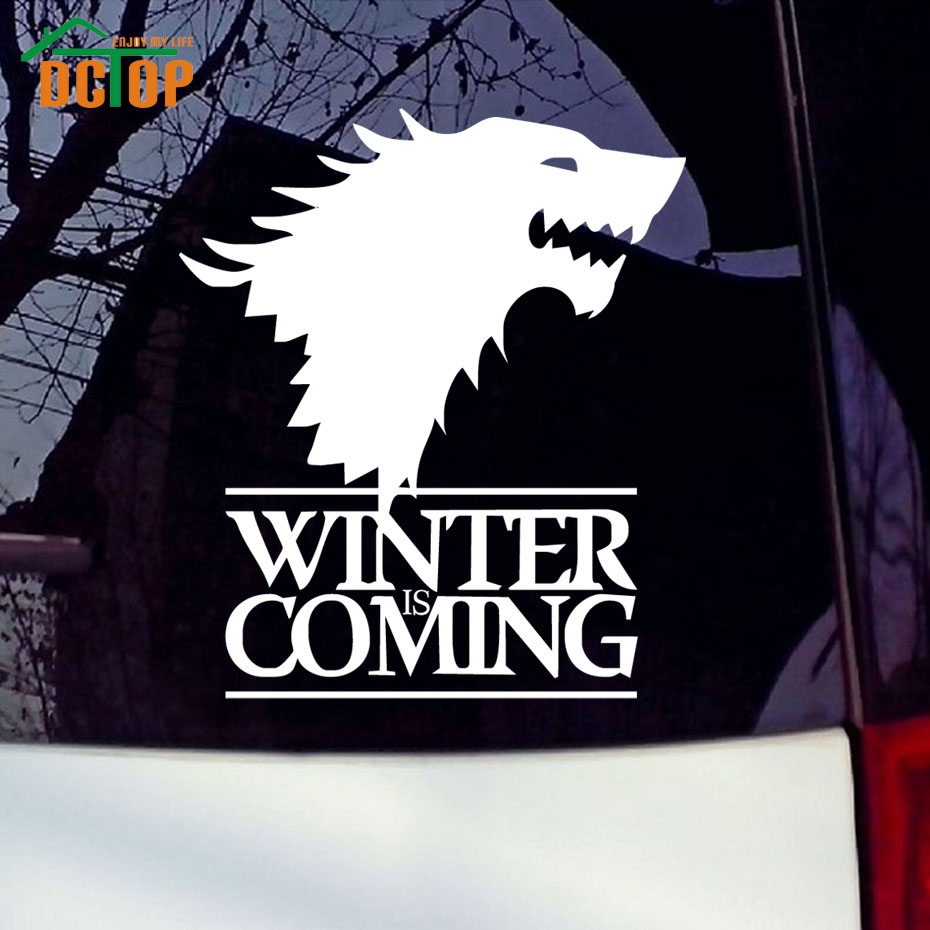 Winter Is Coming Wolf Game of Thrones Car Sticker Decorative Head Of Wolf Car Stickers Vinyl Window Waterproof Auto Decals(China (Mainland))