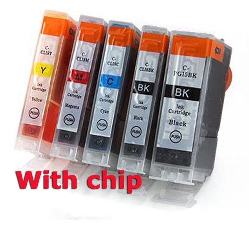 5 pcs New Compatible ink cartridge for Canon PIXMA Printer IP4200 IP3300 MP500 MP960 MP970 PGI-5/CLI-8