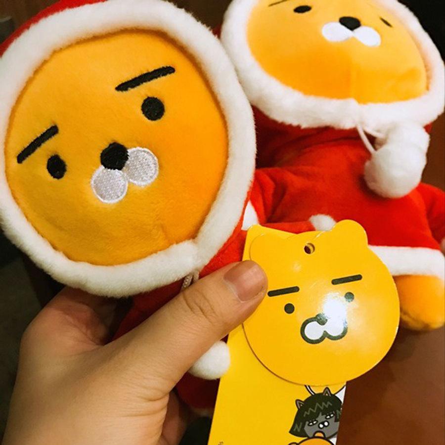 1PCS Korea Kakao Friends Red Ryan Lion Plush Toy Christmas Lion Ryan Doll Friend Kids Girl Boy Gifts Sleeping Friend(China (Mainland))