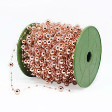 Buy 30 Meters Fishing Line Artificial Pearls Beads Chain Garland Flowers Wedding Party Decoration Products Supply Rose Gold for $10.35 in AliExpress store